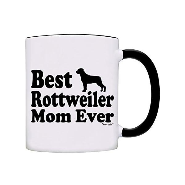 Mug Best Rottweiler Mom Ever Gift Coffee Mug-0061-Black 1