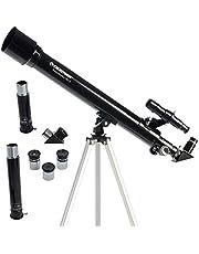 Celestron 21039 Power Seeker Telescope, Refractor, Black