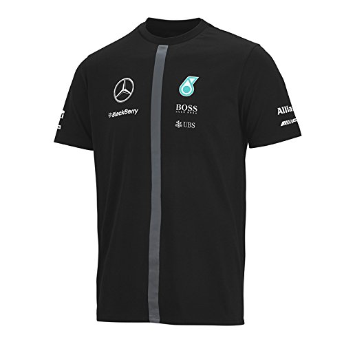 MERCEDES AMG PETRONAS Herren T-Shirt, Schwarz, XL