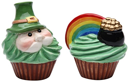 StealStreet SS-CG-61817, 3.25 Inch Leprechaun and Rainbow Pot of Gold Salt and Pepper Shakers