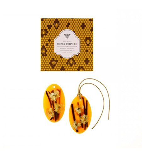 Rosy Rings Honey Tobacco Oval Wax Sachets -Set of 2