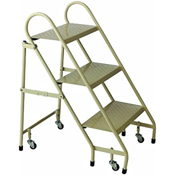 Cramer 1130 19 Steel Folding Ladder Beige Stepladders