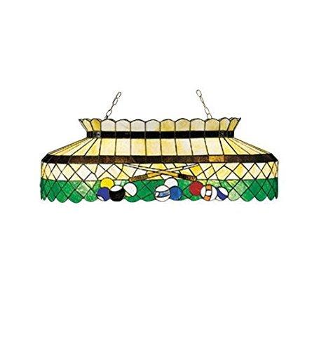 Meyda Tiffany 28499 Billiard Oblong Pendant, 40 Length, Green by Meyda Tiffany (Billiard Oblong Pendant)