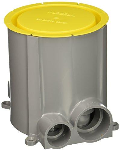 Hubbell S1PFB Non-Corrosive Plastic SystemOne Concrete Floor Box, 100 Cubic Inches Capacity, 5-37/64
