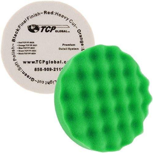 "Hook /& Loop 8/"" Black Extra Fine Foam Finishing Grip Pad Final Buff Polish Wax"