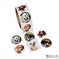 Fun Express Adorable Puppy Dog Stickers (1-Pack of 100)