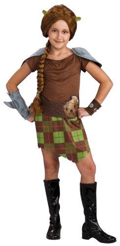 [Shrek Child's Costume, Princess Fiona Warrior Costume] (Girls Princess Fiona Costumes)