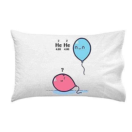 'Helio Globo Ciencia Humor–Funda de almohada Funda de almohada individual
