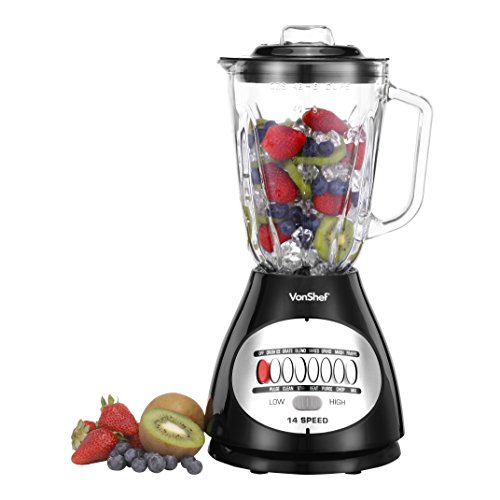 Cheap VonShef Premium 14 Speed 450W Blender with 48oz Glass Jar