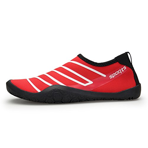 Shoes Skin Unisex Shoes Men's Barefoot Red for Water Yoga Women's Surf Beach Quick Swim Dry w0qCXqE