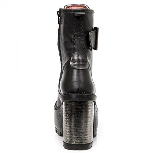 New Rock Boots M.seve03-c9 Gotico Hardrock Punk Damen Stiefelette Schwarz