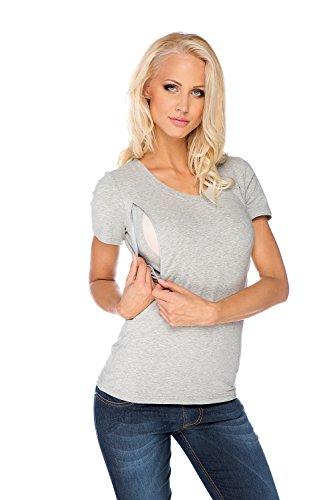 My Tummy Maternité tee-shirt pour l'allaitement gris