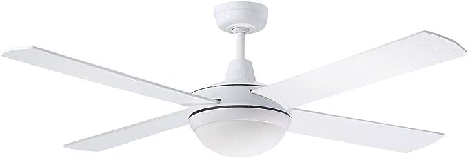 MARTEC Ventilador de techo, 60 W, Blanco: Amazon.es: Iluminación