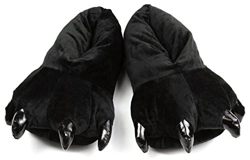 Black Unisex Feet Costume and House Slippers, M from Bienvenu