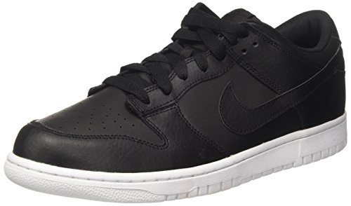 Nike Mens Dunk Low Black/Black/White Skate Shoe 9 Men ()