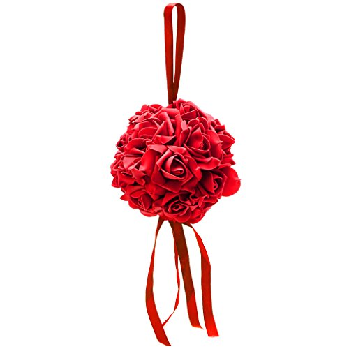 amazon com arich wedding rose foam flowers ball for flower kissing