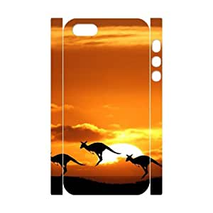 FLYBAI Graphics and More Kangaroo Phone 3D Case For iPhone 5,5S [Pattern-2]