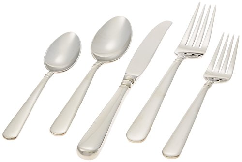 Lenox Pearl Platinum Stainless-Steel 5-Piece Place Setting, Service for 1
