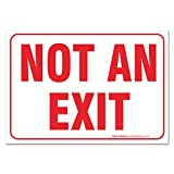 (2 PACK) Not An Exit Sign, Large 10 X 7