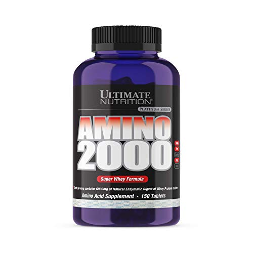 Ultimate Nutrition Amino 2000 Super Whey Formula Tablets, 2000 mg, 150-Count Bottles