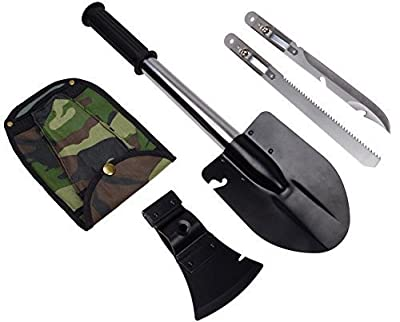 9milelake Ultimate Survival Emergency Camping Hiking Knife Shovel Axe Saw Gear Kit Tools by JL-055