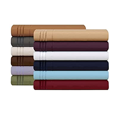 HC Collection 1500 Thread Count Egyptian Quality 2pc Set of Pillow Cases, Silky Soft & Wrinkle Free (ALL COLORS/SIZES)-Queen Size (Standard), Burgundy