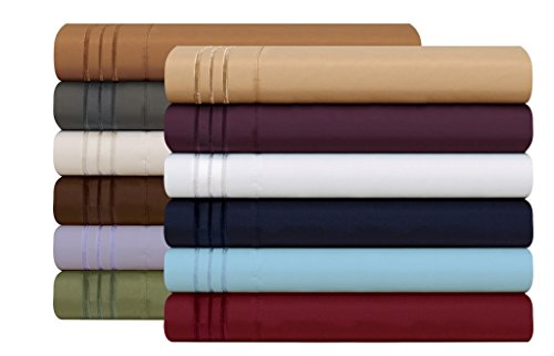 HC Collection 1500 Thread Count Egyptian Quality 2pc Set of Pillow Cases, Silky Soft & Wrinkle Free (ALL COLORS/SIZES)-Full Size (Standard), Eggplant Purple