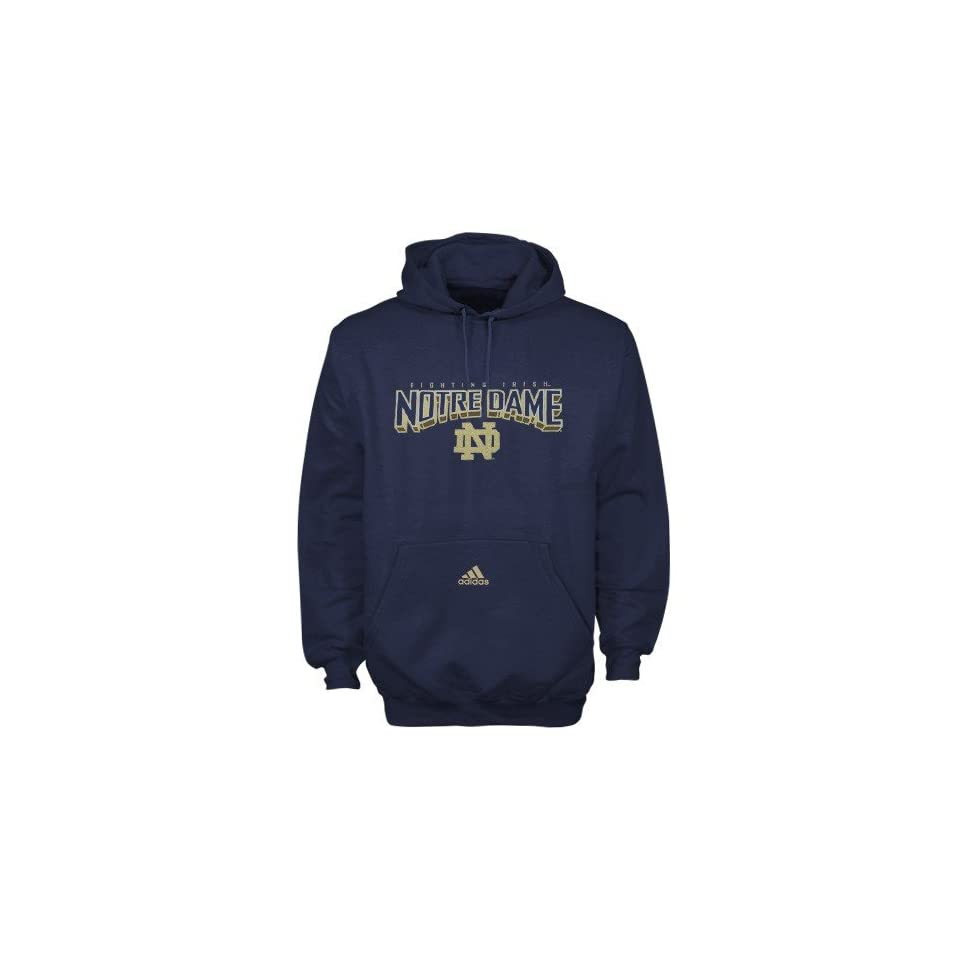 adidas Notre Dame Fighting Irish Navy Blue Book Smart Hoody Sweatshirt