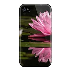 Tpu Jeffrehing Shockproof Scratcheproof Nature Beauty Flowers Lily Hard Case Cover For Iphone 4/4s