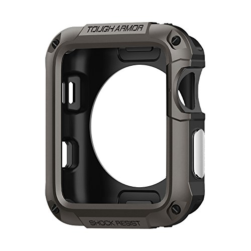 Spigen Tough Armor Apple Watch Case with Extreme Heavy Duty Protection and Built In Screen Protector for 42mm Apple Watch Series 3/Series 2/1/Original (2015)/Nike+ Sport Edition - Gunmetal by Spigen
