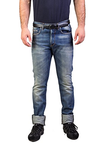 Dior Homme Men's Bleu Marine Slim Fit Denim Jeans Pants Light - Men Jeans Dior