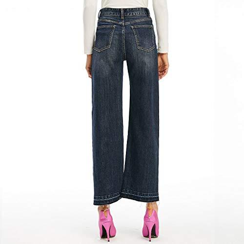 E Comodi Da Gamba Cowboy Vita A Larghi Xs Blue Jeans Scoperta Donna Alta Larghi Mvguihzpo Pantaloni vwqzP1H1