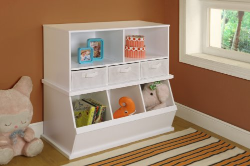 Badger Basket Shelf Storage Cubby with Three Baskets, White by Badger Basket (Image #7)