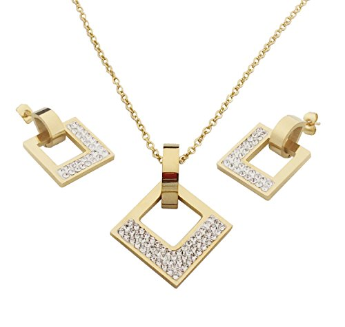 Gold Square Jewelry Set - 2