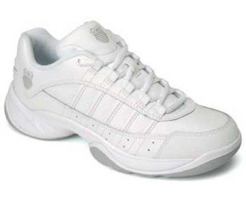 Damen Tennisschuh Outshine Carpet Leder, Weiß/Silber, 37 EU