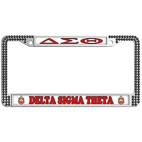 Amazon.com: Dasokao DELTA SIGMA THETA Custom Auto Car License Plate ...