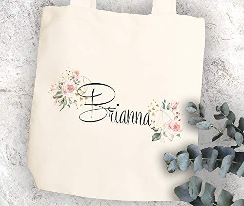 (Bridesmaid gift idea Canvas tote - Custom bridesmaid proposal totes Maid of honor tote Asking matron of honor Wedding tote Ask flower girl)