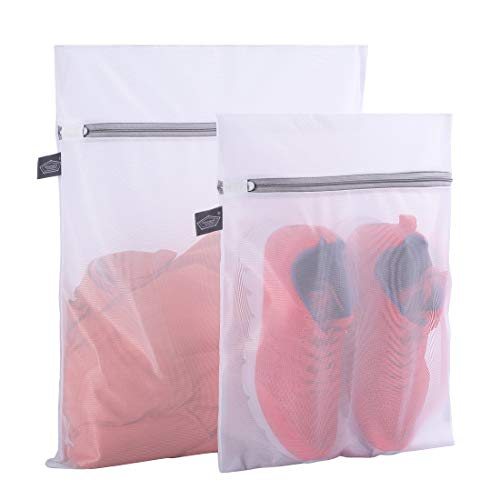 Kimmama Set of 2 Delicates Laundry Bags,Durable Zipper Mesh Laundry Bag,Bra Fine Mesh Wash Bag,Protect Cloth Shape in The Washer