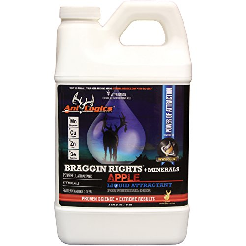 Ani-Logics Outdoors Liquid Braggin Rights Apple Attractant, 1/2 Gal 8-PACK by Ani-Logics Outdoors