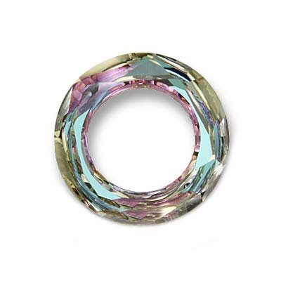 Faceted Donut Crystal (SWAROVSKI ELEMENTS Crystal Cosmic Ring Pendant #4139 20mm Vitrail Light (1))