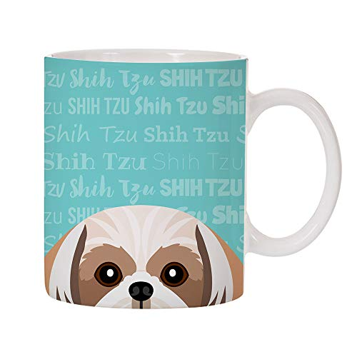 (Adorable Dog Breed Specific 11oz Ceramic Coffee Mug (Shih Tzu))