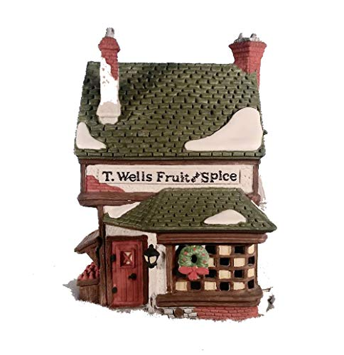 (Department 56 T.Wells Fruit and Spice Shop Retired by HERITAGE VILLAGE COLLECTION)