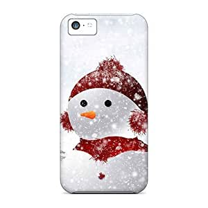 High Quality GoldenArea Snowman Skin Case Cover Specially Designed For Iphone - 5c