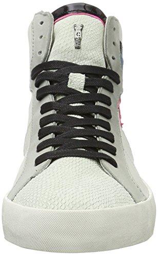 CRIME London Jay, Zapatillas Altas para Mujer Blanco (Weiß)
