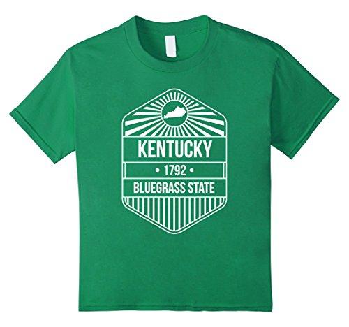 Kids Kentucky State Motto T-Shirt - Bluegrass State 8 Kelly Green - Kentucky State Motto