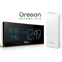 Oregon Scientific BAR292/BOXW PRYSMA Chrome Weather Station, White