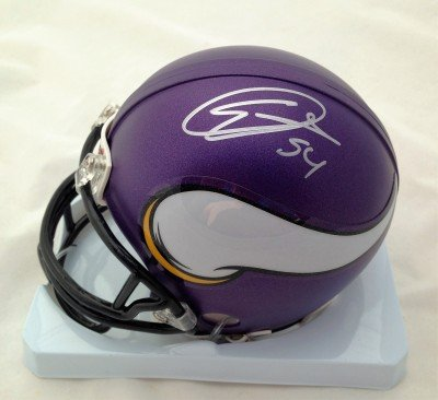 Eric Kendricks Minnesota Vikings Autographed Signed Matte Mini Helmet COA