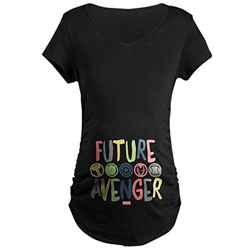 CafePress Future Avenger Maternity Dark T Shirt Cotton Maternity T-Shirt, Side Ruched Scoop Neck Black]()