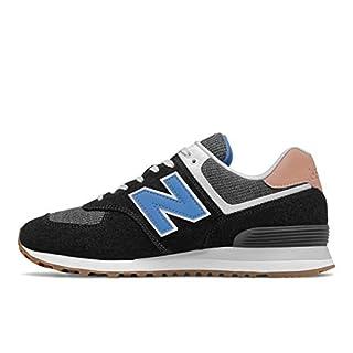 New Balance Mens 574 V2 Sneaker, Black/FADED MAHOGANY,9.5