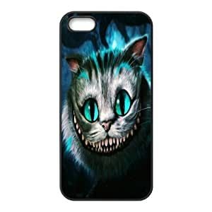 Fashion Cheshire Cat Personalized iPhone 5 5S Rubber Silicone Case Cover